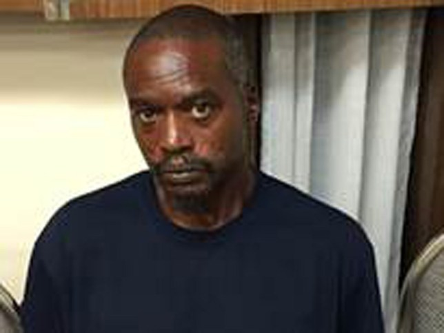 This is a smartphone photograph taken and released by the Mississippi Department of Public Safety in Durant, Miss., Friday, Aug. 26, 2016, of Rodney Earl Sanders, 46, of Kosciusko, who has been charged with two counts of capital murder in connection with the killing of Sister Margaret Held and Sister Paula Merrill, both nurse practitioners who were found dead in their Durant house Thursday. (Warren Strain/Mississippi Department of Public Safety Hand Out, via AP)