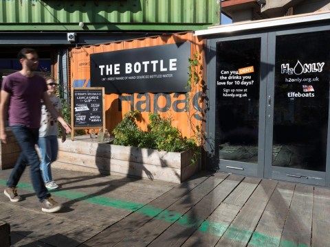Bar in south London will be stocking water from the sea