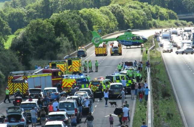 Horror crash on M5 leaves child in critical condition and