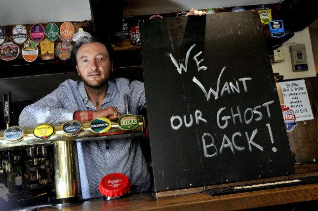 FROM JOHN JEFFAY AT CASCADE NEWS LTD 0161 660 8087 / 07771 957773 john@cascadenews.co.uk / www.cascadenews.co.uknnSyndicated for Bolton NewsnnnRichard Greenwood of Ye Olde Man and Scythe who wants his ghost back after it was taken by a Chinese artist.nnnnA PUB is refusing to give up the ghost ¿ after its 17th century spectre was ¿stolen¿ by an artist from China.nLu Pingyuan, 32, from Shanghai, claims to have performed an incantation and to have captured the ghost of James Stanley, the seventh Earl of Derby, in a canister.nHe¿s now displaying the canister and a video of the ghost¿s appearance in a siplay entitled James Stanley, the Seventh Earl of Derby at the Centre for Chinese Contemporary Art, in Manchester.nBut Richard Greenwood, ownert of Ye Olde Man and Scythe, in Churchgate, Bolton, Greater Manchester, where the ghost is said to have lived since 1644 wants it back.nThe pub, which dates back to 1251, is the fourth-oldest in Britain.nnn