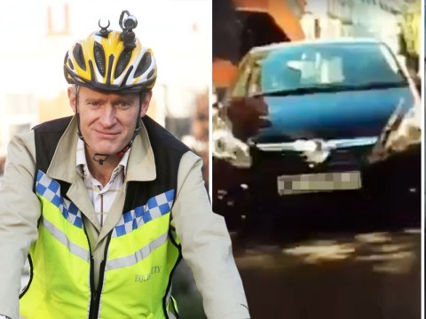 Jeremy Vine gets 'a kicking' from female driver while cycling in London