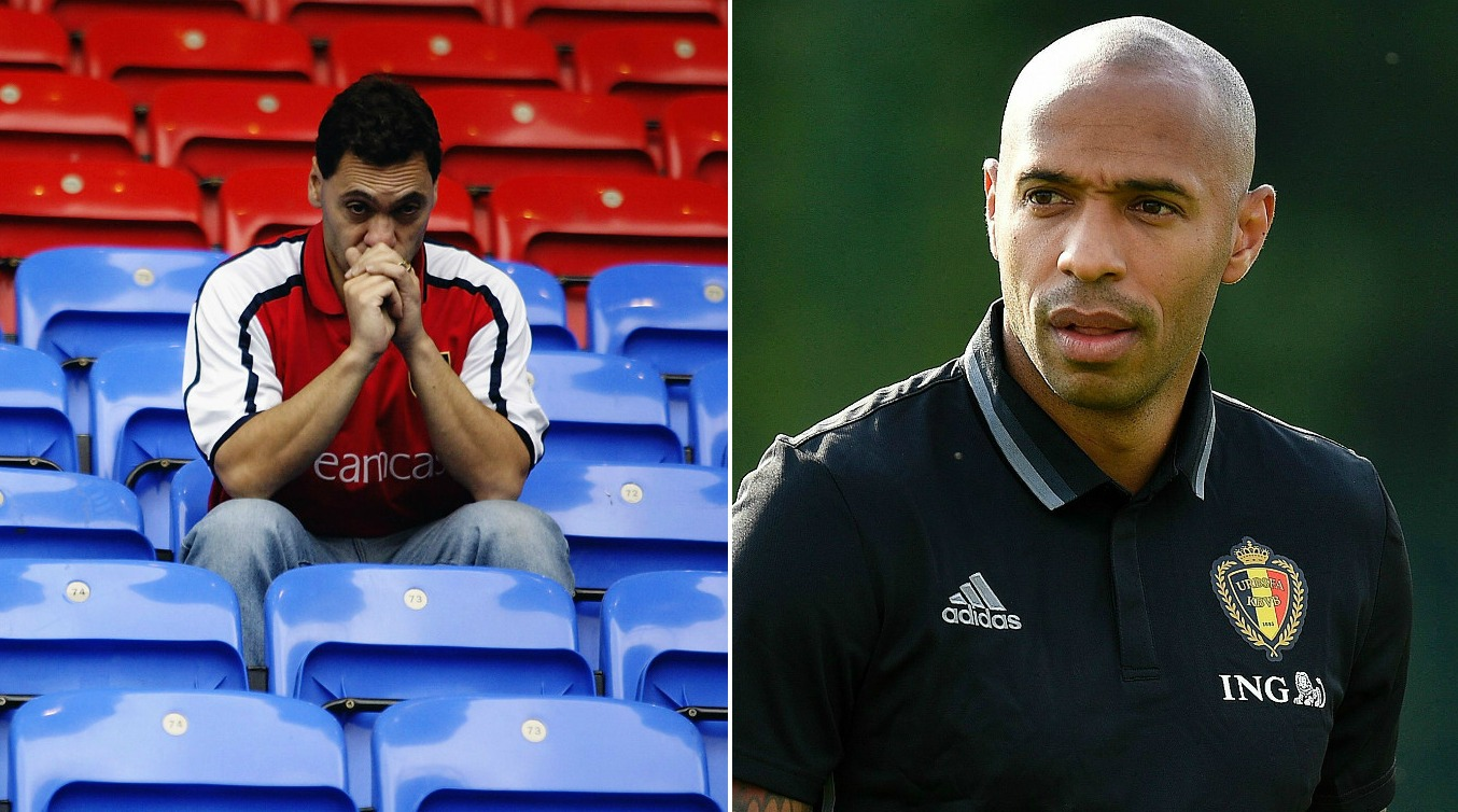 Thierry Henry declines opportunity to record video message after dropping out of Arsenal legends match