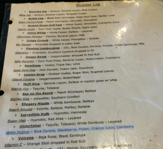 Canadian restaurant names drink after serial killer Willie