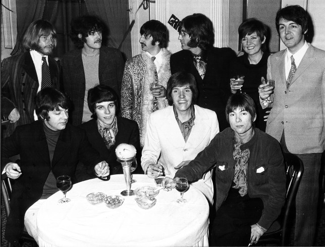 The Beatles with Cilla Black (Picture: Associated Newspaper)