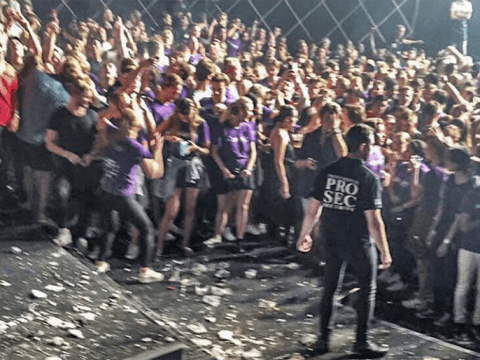 15 hurt after roof collapses during concert