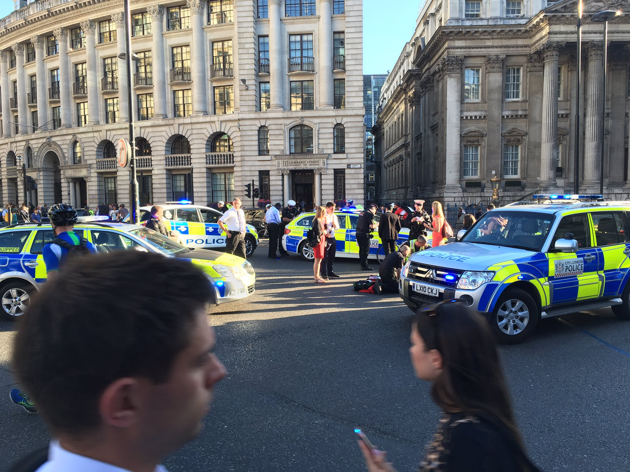 Garreth Hayes took this picture as emergency services arrived to help the injured cyclist (Picture: Garreth Hayes)