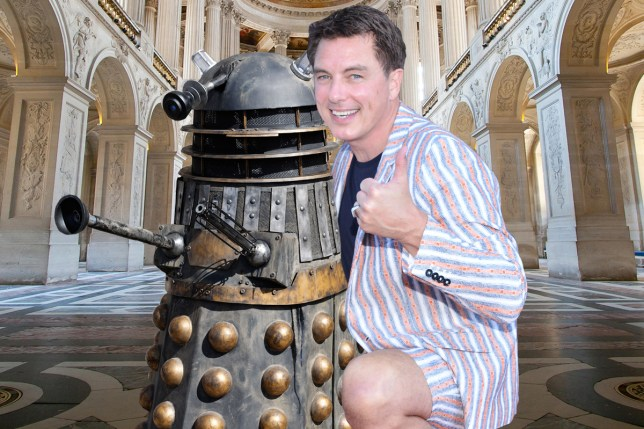 John Barrowman owns a Dalek he can ride around his house.