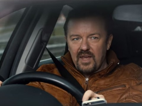 David Brent shows off some fierce toiletry-selling skills in the Life On The Road video