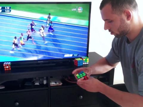 Man solves Rubik's Cube faster than Usain Bolt completes 100m
