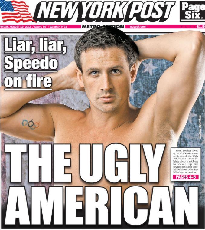 Liar, liar, Speedos on fire: US paper goes hard on Ryan Lochte