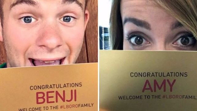 Students were sent golden tickets to tell them they bagged a place at university. (Picture: Caters)