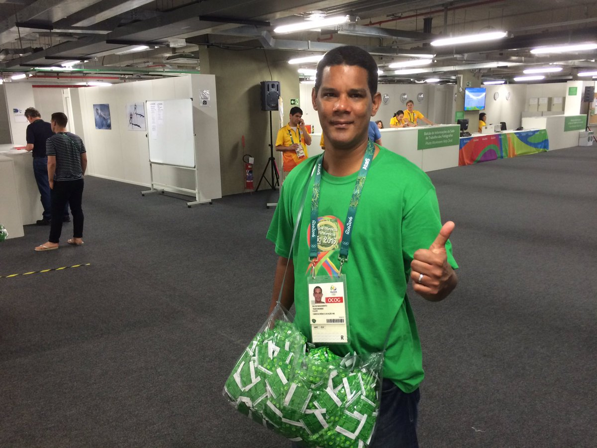 A moment of appreciation for the guys handing out condoms at the Olympics