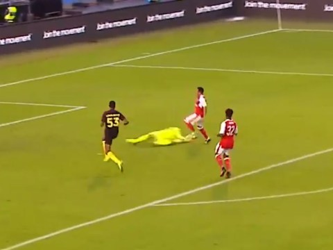 Watch: Joe Hart plays his part as shocking mistakes gift Chuba Akpom a goal for Arsenal