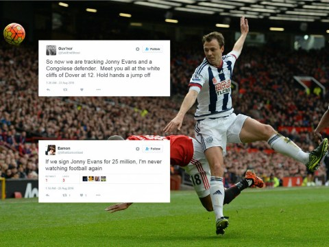 Arsenal fans react with shock to £25million pursuit of West Brom defender Jonny Evans