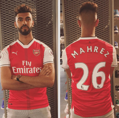 the best attitude 7ffd9 0b295 Arsenal news: Gooner puts 'Mahrez 26' shirt up for sale ...