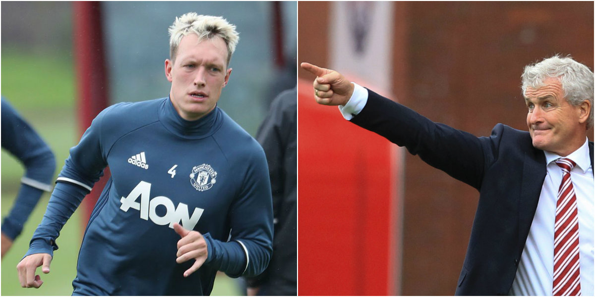 Mark Hughes confirms Stoke have asked Manchester United about Phil Jones' availability