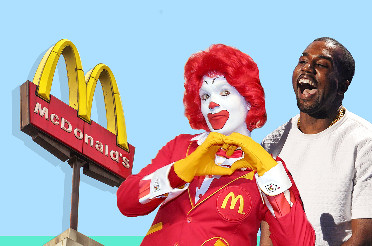 Kanye West has written a poem about McDonalds because Kanye