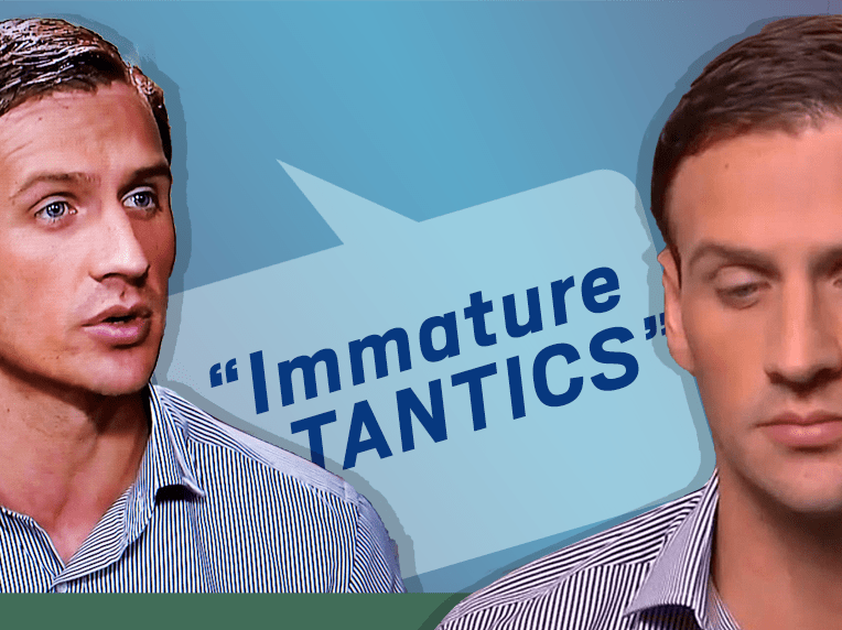 Ryan Lochte made up a new word while talking about his robbery lies