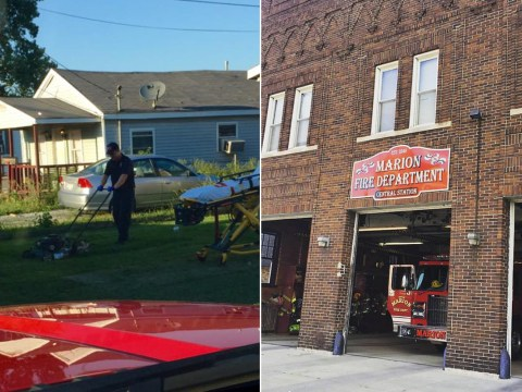 Firefighter finishes mowing the lawn for man who was admitted to hospital