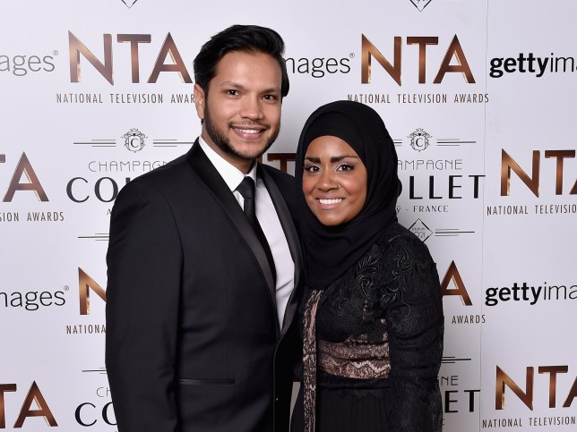 Nadiya and husband Abdul (Picture: Getty)