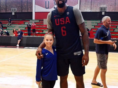 Tiny gymnast posts the picture of the Rio Olympics that highlights HUGE height difference with USA team-mate