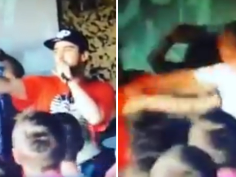 Rapper knocked out after making mum joke about spectator
