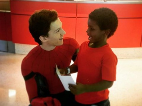 Tom Holland swung by a children's hospital dressed as Spider-Man and it's adorable