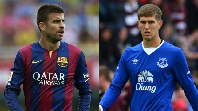 John Stones could soon work with Pique's former boss, Pep Guardiola