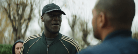Stormzy in Noel Clarke's Brotherhood (Picture: Lionsgate)