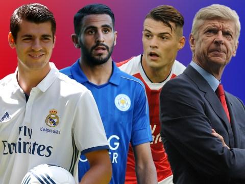 Arsenal's ideal line up if they'd landed top transfer targets Riyad Mahrez, Alvaro Morata and Shkodran Mustafi
