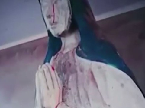Priest claims Virgin Mary statue is 'crying blood' from eyes and hands