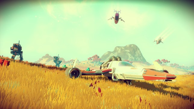 No Man's Sky (PS4) - our starter ship didn't look as cool as this