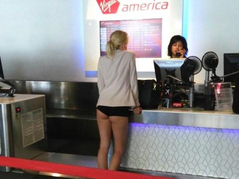 Virgin America passenger checks in… wearing just her underwear
