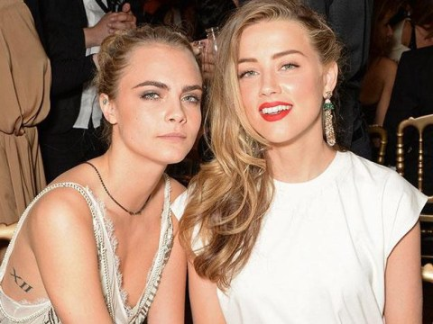 Cara Delevingne and Amber Heard are 'staying in a London hotel room together' after both becoming single
