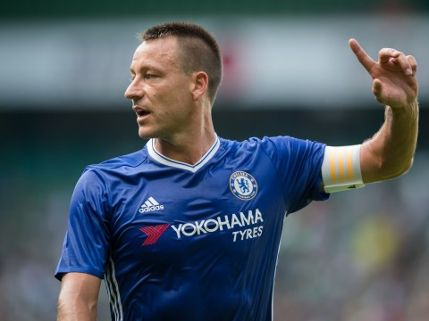 John Terry ruled out of Chelsea's Premier League clash with Arsenal