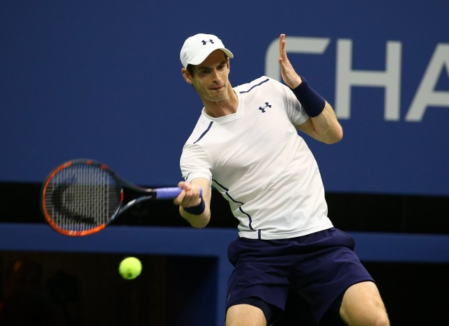 NEW YORK, NY - SEPTEMBER 07: Andy Murray in action during his Men's Singles Quarterfinal match against Kei Nishikori of Japan (not seen) in the 2016 US Open at the Arthur Ashe stadium in New York, United States on September 7, 2016. (Photo by Volkan Furuncu/Anadolu Agency/Getty Images)