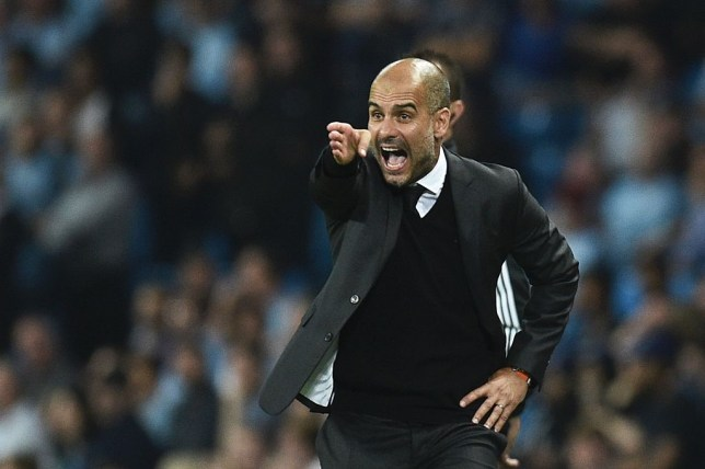 Manchester City's Spanish manager Pep Guardiola gesutres on the touchline during the UEFA Champions League group C football match between Manchester City and Borussia Monchengladbach at the Etihad stadium in Manchester, northwest England, on September 14, 2016. / AFP / OLI SCARFF (Photo credit should read OLI SCARFF/AFP/Getty Images)