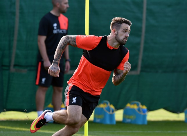 LIVERPOOL, ENGLAND - SEPTEMBER 15: (THE SUN OUT, THE SUN ON SUNDAY OUT) Danny Ings of Liverpool during a training session at Melwood Training Ground on September 15, 2016 in Liverpool, England. (Photo by John Powell/Liverpool FC via Getty Images)