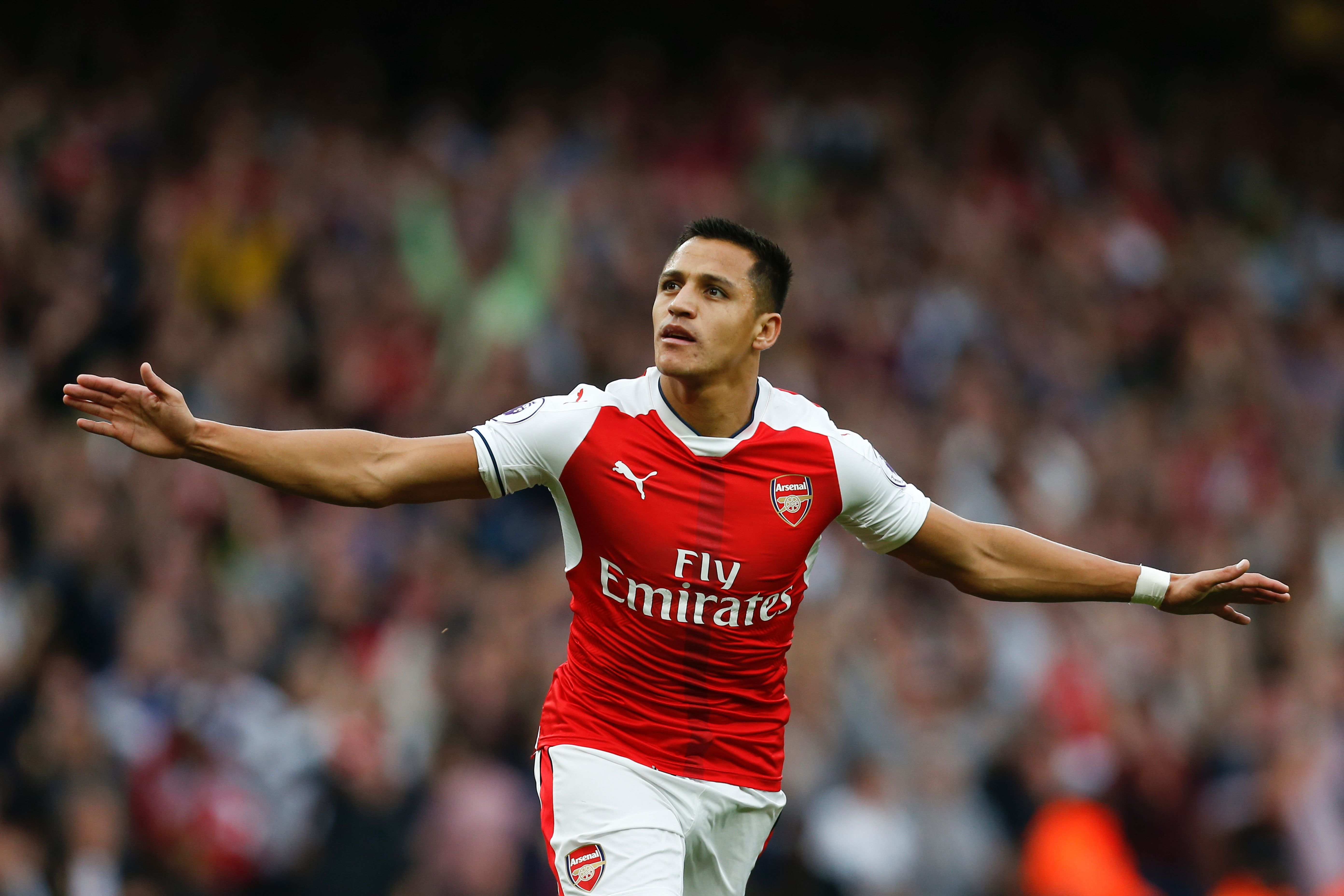 Alexis Sanchez has just one fewer goal for Arsenal than Thierry Henry after 100 games
