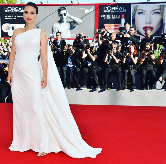 Natalie Portman walked the red carpet at Venice (Picture: Getty)