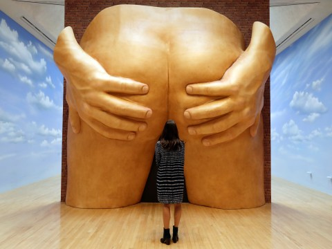 This year's Turner Prize exhibition opens with a giant pair of buttocks