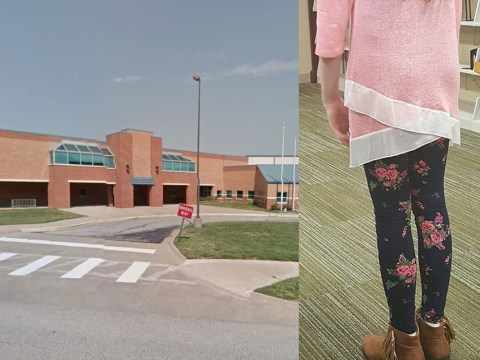 Girl, 11, wearing leggings pulled out of class because 'boys can't control themselves'