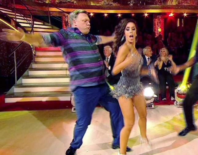 "Pic shows: Former politician Ed Balls on the launch show of Strictly Come Dancingnmeets his partner Katya Jones nand then ""dad dances"" his way through a group number as his horrified wife Yvette Cooper looks on.nnnnPicture by Pixel8000 07917221968"