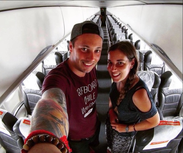 Couple from Yorkshire, were shocked to find they were the only passengers onboard a flight from Thailand to Malaysia