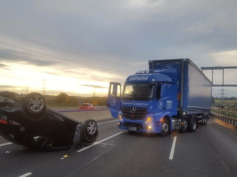 Former soldier slams impatient drivers after shielding crash victim with lorry