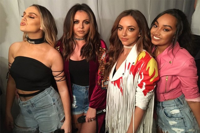 Little Mix praise Tulisa as she launches chart comeback Picture posted on Twitter 08/09/2016 Credit: Little Mix/Twitter