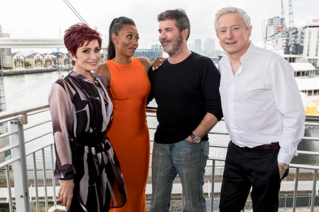 ***EMBARGOED UNTIL 00.01 SATURDAY SEPTEMBER 10TH 2016***MANDATORY BYLINE TO READ: Syco / Thames / Dymond*** X-Factor judges and contestants are seen during the Third show of the 2016 series due to air on Saturday September 11th. Pictured is: Judges and Mel B