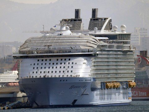 One dead and four injured after accident on world's biggest cruise ship