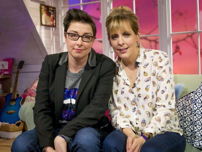 Sue Perkins and Mel Giedroyc - 'Mel and Sue' TV Programme, London, Britain. - 12 Jan 2015 EDITORIAL USE ONLY. NO MERCHANDISING Mandatory Credit: Photo by S Meddle/ITV/REX Shutterstock (4375867s)