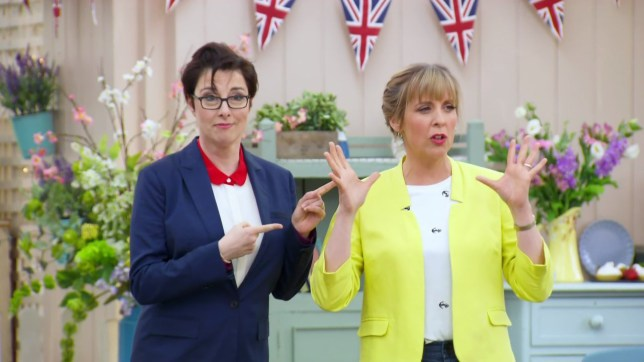The Great British Bake Off. Broadcast on BBC OneHDnnFeaturing: Sue Perkins, Mel GiedroycnWhen: 25 Aug 2016nCredit: Supplied by WENNnn**WENN does not claim any ownership including but not limited to Copyright, License in attached material. Fees charged by WENN are for WENN's services only, do not, nor are they intended to, convey to the user any ownership of Copyright, License in material. By publishing this material you expressly agree to indemnify, to hold WENN, its directors, shareholders, employees harmless from any loss, claims, damages, demands, expenses (including legal fees), any causes of action, allegation against WENN arising out of, connected in any way with publication of the material.**